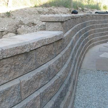 Our landscaping project Anchored retaining wall, bored pile retaining wall